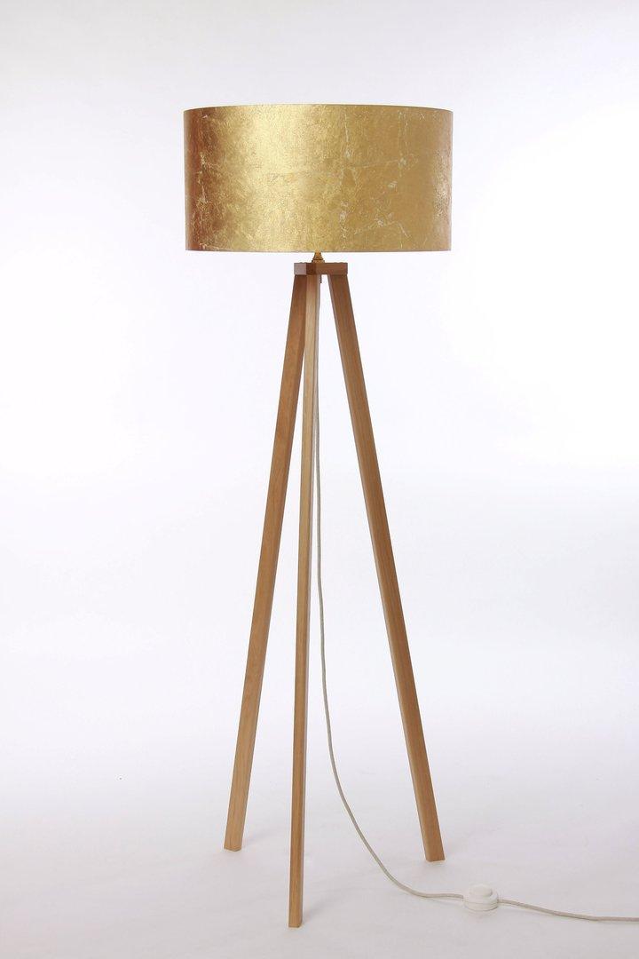 stehlampe 3 bein eiche natur leuchtenmanufaktur brodauf