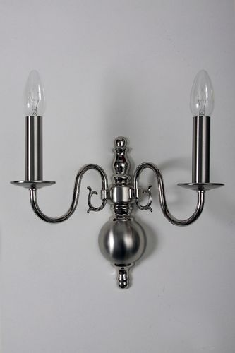Wandlampe 2-flammig Nickel