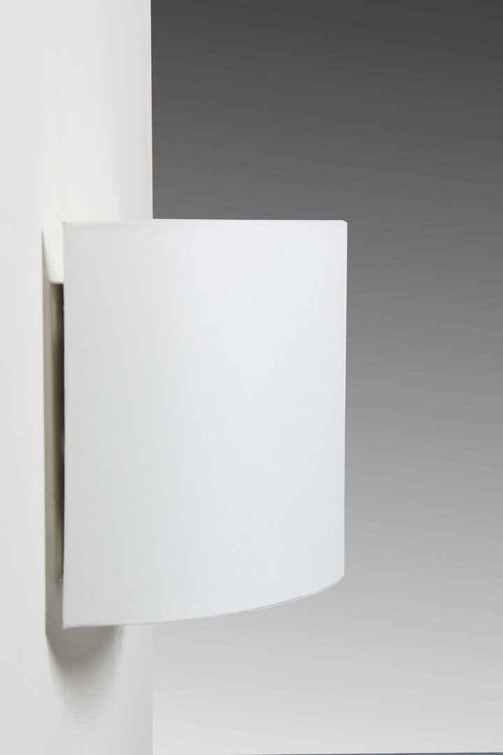 wandlampe halbrund quer stoff leuchtenmanufaktur brodauf. Black Bedroom Furniture Sets. Home Design Ideas