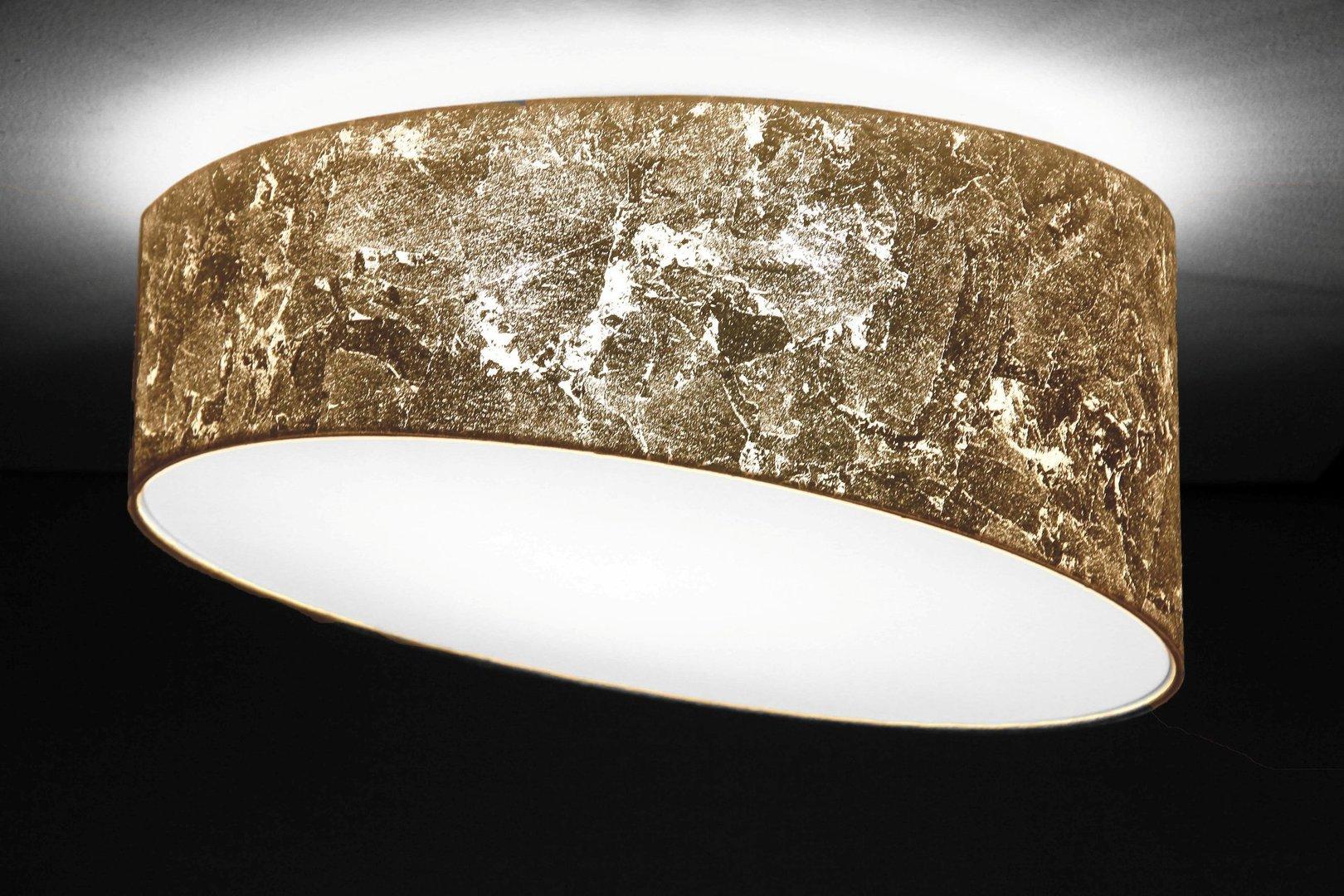 Designer Deckenleuchte gold, D.50 cm   Leuchtenmanufaktur Brodauf