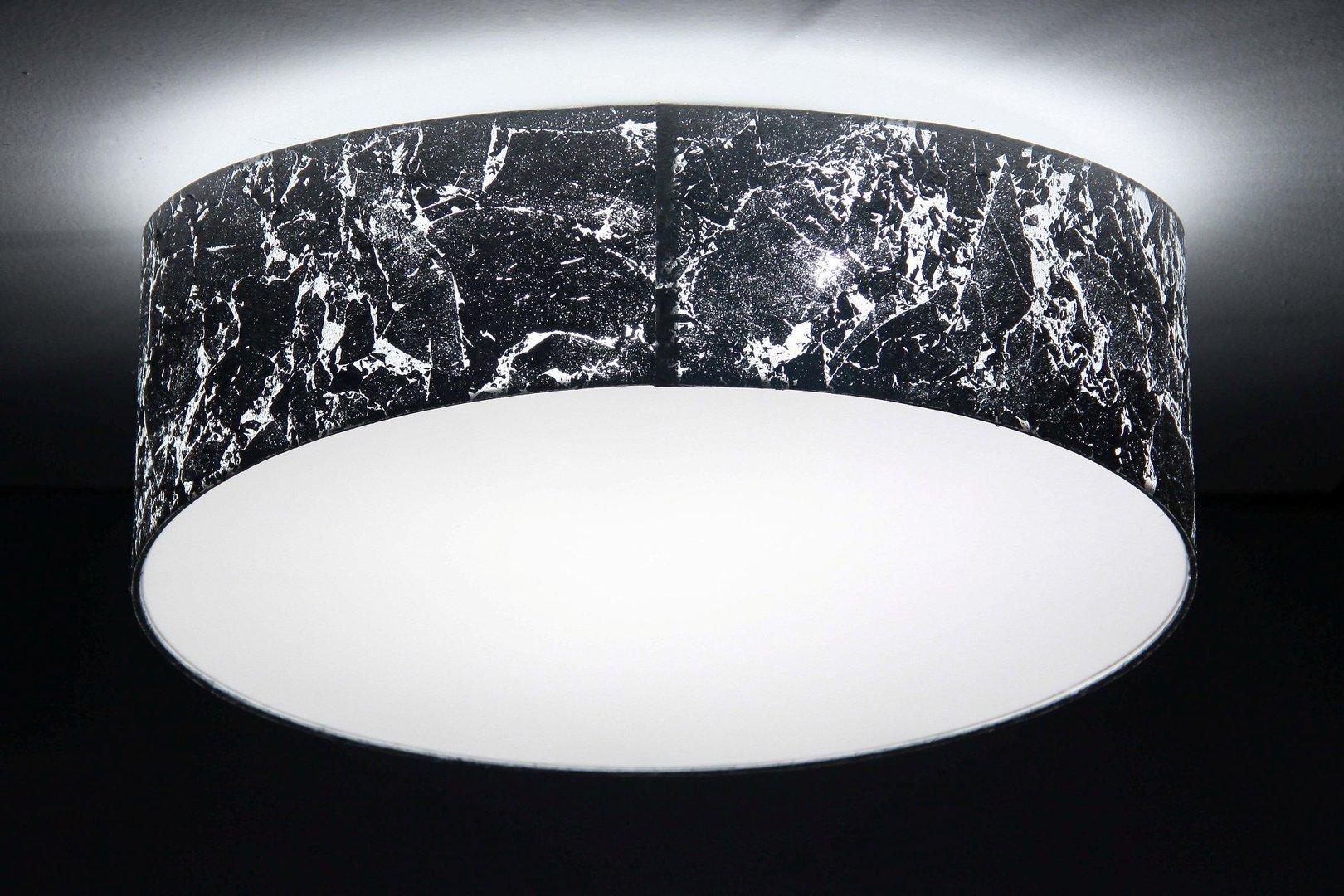 Designer Deckenleuchte silber, D.50 cm   Leuchtenmanufaktur Brodauf