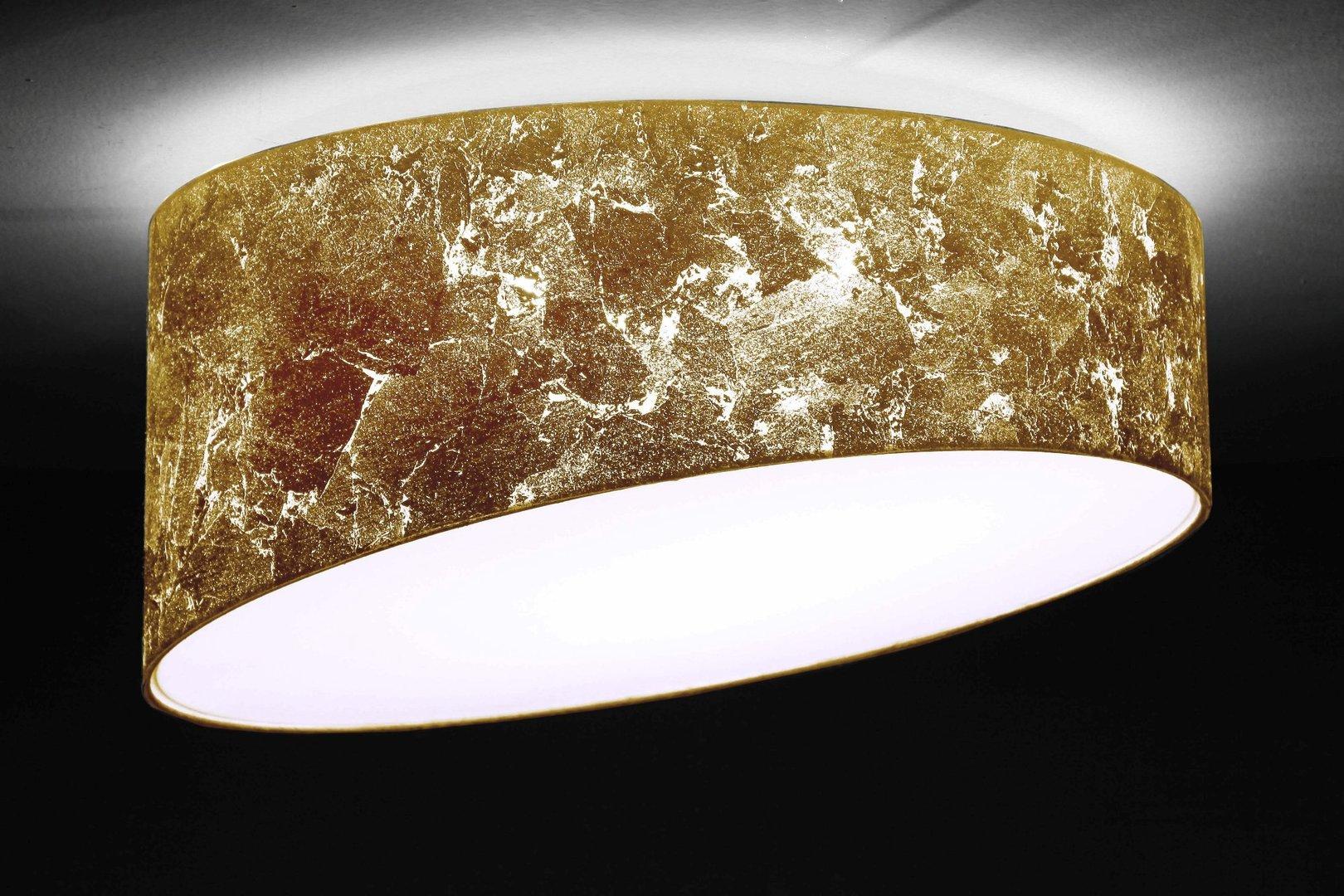 Designer Deckenleuchte gold, D.70 cm   Leuchtenmanufaktur Brodauf